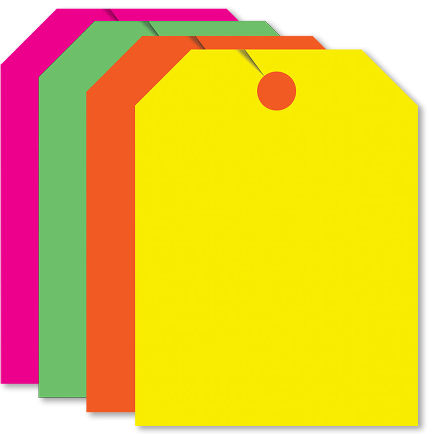 Blank Rear View Mirror Tags (Assorted Fluorescent)