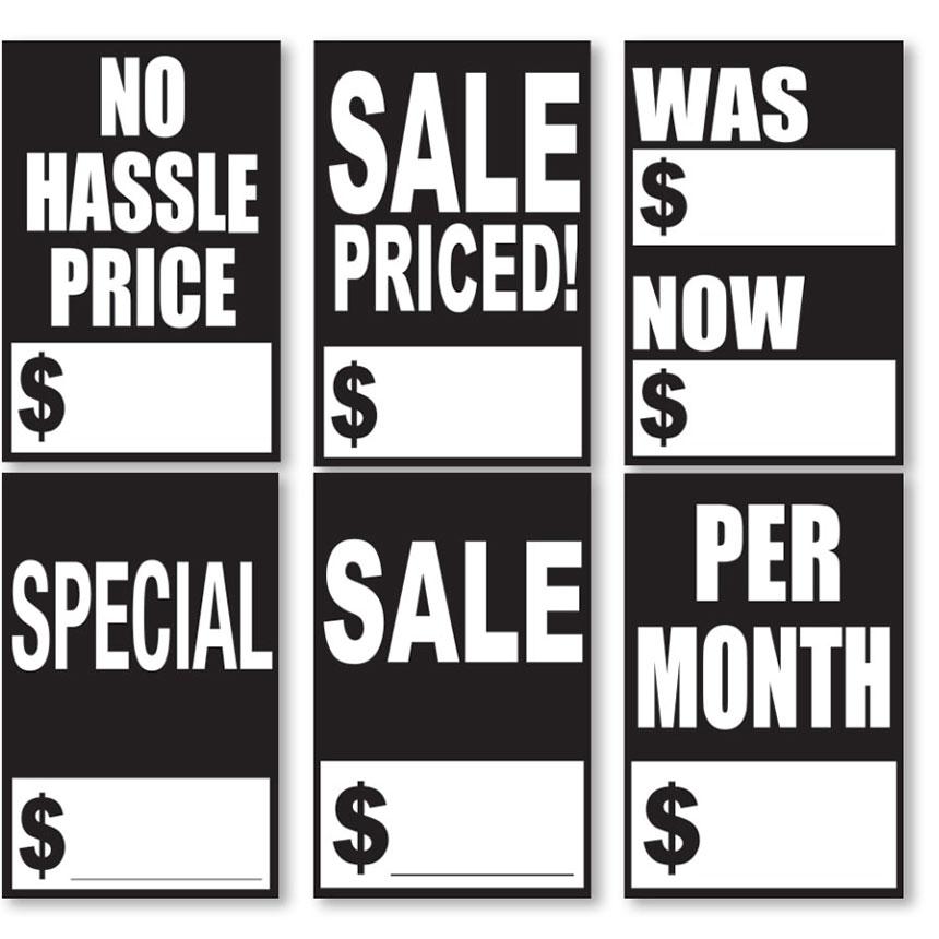 Quick Sale Stickers - Black & White