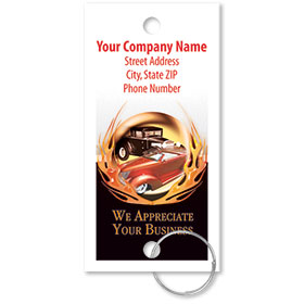Personalized Full-Color Key Tags - Classic Cars