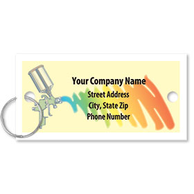 Personalized Full-Color Key Tags - Rainbow Spray