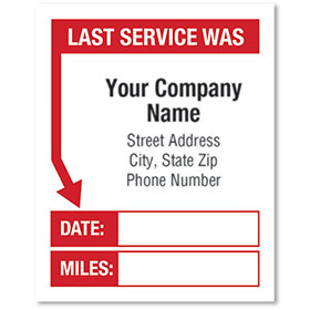 White Static Cling Stickers - Last Service Was