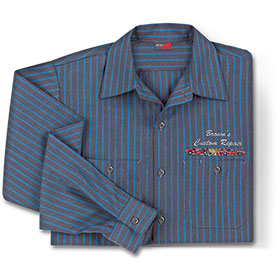 RedKap Work Shirt LS Industrial w/Stripes