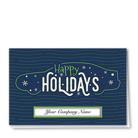 Personalized Premium Foil Holiday Cards - Whimsical Holiday