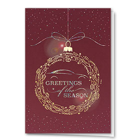 Personalized Premium Foil Holiday Cards - Auto Ornament