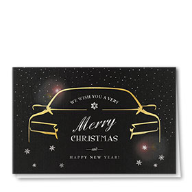 Personalized Premium Foil Holiday Cards - Opulent Wishes