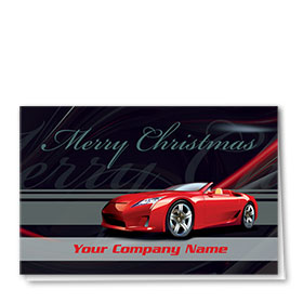 Double Personalized Full Color Holiday Card-Red Holiday Rush - 50