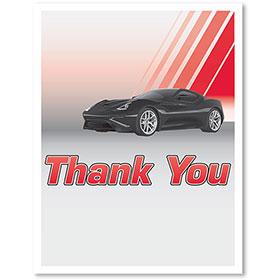 Large Vertical Paper Floor Mats - Thank You