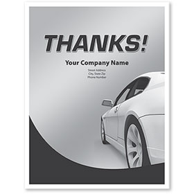 Personalized Large Vertical Floormat - Thanks!