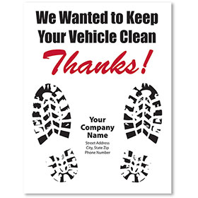 Personalized Large Vertical Floormat - Vehicle Clean