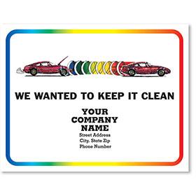 Personalized Full-Color Paper Floor Mats - Rainbow Repair