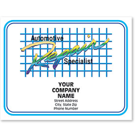 Personalized Full-Color Paper Floor Mats - Automotive Repair Specialist