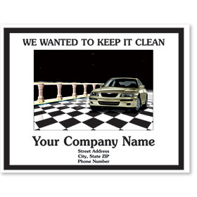 Personalized Full-Color Paper Floor Mats - Checkered Design