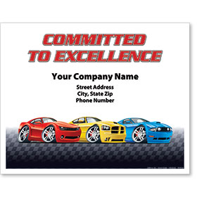 Personalized Full-Color Paper Floor Mats - Committed to Excellence