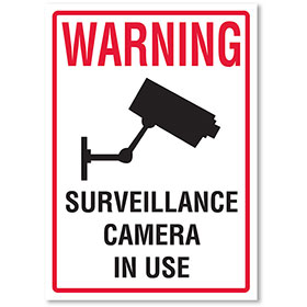 Small Signs for Your Business - Warning Surveillance