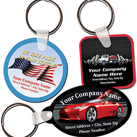 Full-Color Key Tag with Colored Background