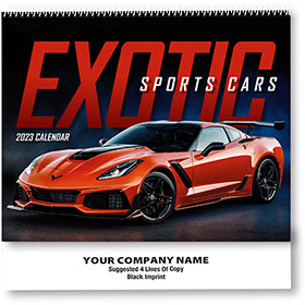 Wall Calendar Spiral - Exotic Cars