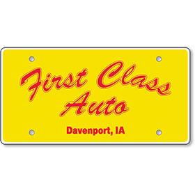 License Plate Insert 2 Color