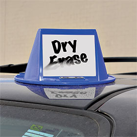 Magnetic Car Hat with Dry Erase
