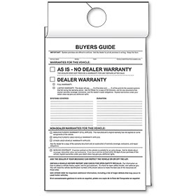 As-Is 2-Part Carbonless Hanging Buyers Guides