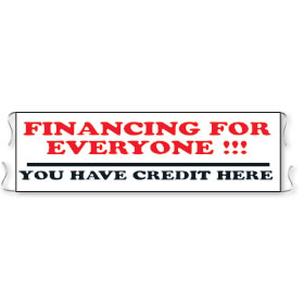 Financing for Everyone - Promo Banners for Car Lots