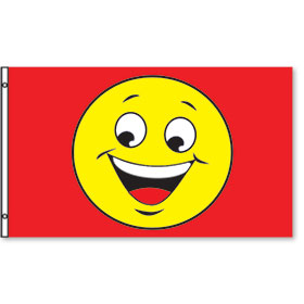 3' x 5' Red and Yellow Smiley Rectangle Flags