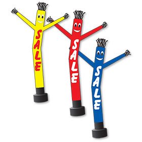 18' Inflatable Dancing Man with Sale Slogan