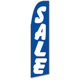 Blue Sale Visible Message Feather Flag