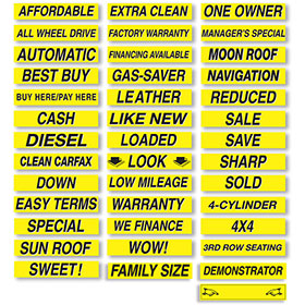 Brilliant Windshield Slogans - Black & Yellow