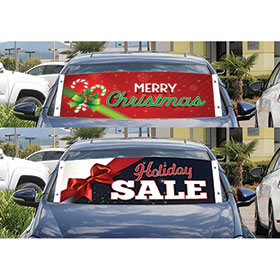 Holiday Frontline Windshield Banners