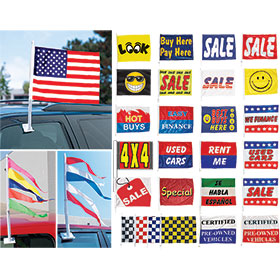 Dealer Window Clip-On Flags