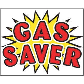Gas Saver - Bright Burst Static Cling Windshield Signs