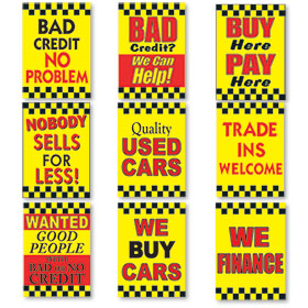Under the Hood Display Signs - Yellow, Black & Red