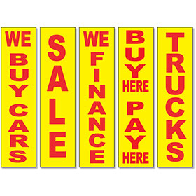 Vertical Message Signs - Yellow & Red