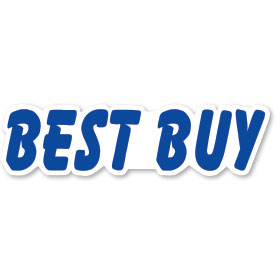 Best Buy - Blue and White Peel and Stick Designer Cut Slogans