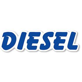 Diesel - Blue & White Peel-and-Stick Designer Cut Slogans