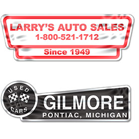 Reflective Standard Car Dealer Decals