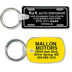 One-Sided Custom Soft Vinyl Key Tags