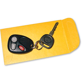 Car Key Drop Box Envelopes