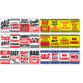 Jumbo Under the Hood Signs - Kit of 5