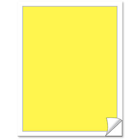 Blank Yellow Vehicle Info Window Stickers (50)