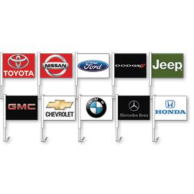 Dealer Logo Premium Clip-On Window Flags