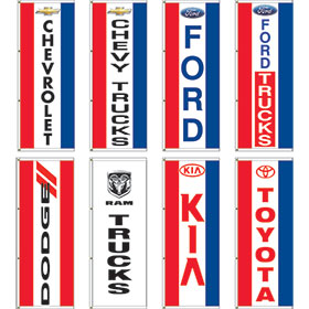 Dealer Logo Display Master Flags 3' x 8'