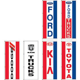 Dealer Logo Display Master Flags 3 x 8ft