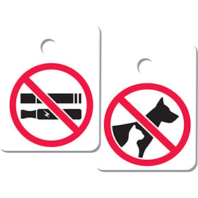 No Smoking/ No Pets Key Tag Add-ons