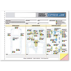 Generic Express Lane Vehicle Check-Up Form