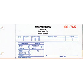 Custom Imprinted Cash Receipts