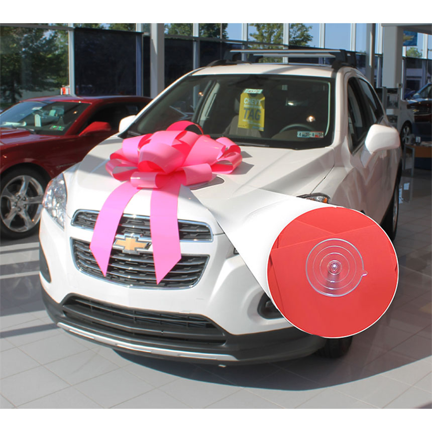 "30"" Giant Car Bow with Suction Cup - Pink"
