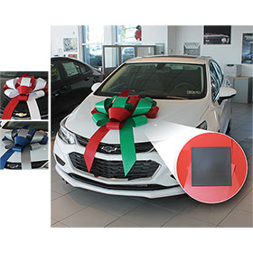"Build-A-Bow Custom 2-Color 30"" Car Bow with Magnet"