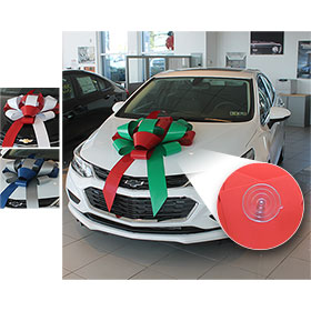 "Build-A-Bow Custom 2-Color 30"" Car Bow with Suction Cup"