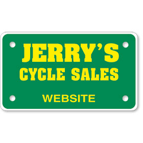 "Personalized 2 Color Motorcycle Plate Inserts (7"" x 4"")"